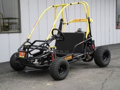 The American Sportworks 3171 Black Widow off-road go kart is a fast and fun go kart for kids ages 13 and older.  With a powerful 136cc 4-stroke engine and automatic CVT (continuously-variable) transmission, it can travel up to 24mph.  And thanks to hydraulic disc brakes, it can stop on a dime.  The full suspension makes it easy to control.  And for added safety, it is equipped with 1-inch brush bars and 3-point shoulder/lap belts.