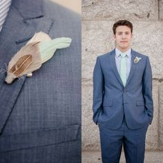 Pomp and Plumage Tofino Boutonniere on OUR BRIDAL SHOOT: The Week of Stress Before the Wedding