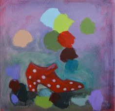 Tanssikenkä, akryylimaalaus sarjasta Maalarin työpäivä, 2012