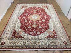 Tabriz woll und silk  Nomaden Handgeknüpft Teppich 344 x 249  cm orient carpet