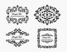 Vintage Floral Frame Element | Free Vector Graphics | All Free Web Resources for Designer - Web Design Hot!