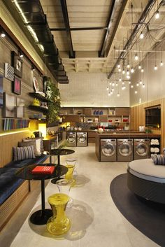 Best Indoor Garden Ideas for 2020 - Modern Laundromat Business, Laundry Business, Cleaning Business, Laundry Shop, Coin Laundry, My Beautiful Laundrette, Self Service Laundry, Commercial Laundry, Workspace Design