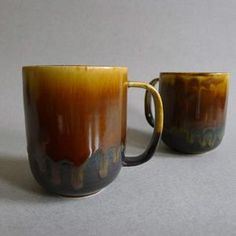 Mug Brown Set Of 2, $54, now featured on Fab.