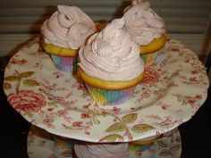 On 07-21-2013 i made Blondie cupcakes with raspberry buttercream completely from the scratch