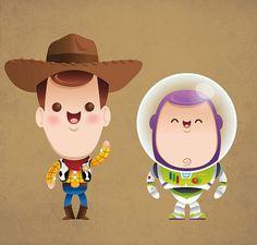Toy Story character illustrations by Jerrod Maruyama #Kawaii