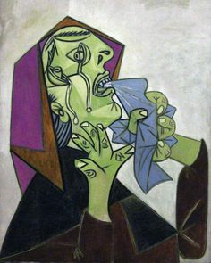 Head of Crying Woman with Handkerchief (III), 1937  (study for Guernica)  Pablo Picasso