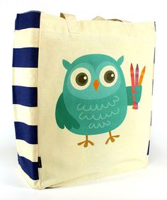 Love this Artsy Owl Tote on #zulily! #zulilyfinds