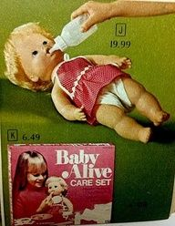 """Baby Alive - remember those packets of """"food"""" you mixed with water and forced her to eat?"""