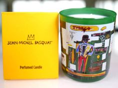 """Delicious Smell for this Basquiat scented candle. Jean-Michel Basquiat emerged from the """"Punk"""" scene in New York as a gritty, street-smart graffiti artist who successfully crossed over from his """"downtown"""" origins to the international art gallery circuit."""
