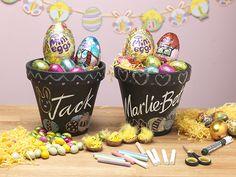Chalkboard Easter Egg Pots