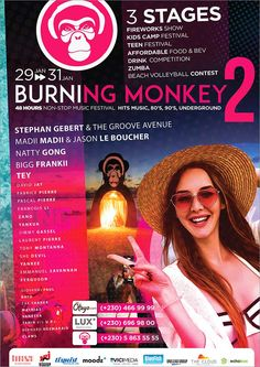 Burning Monkey Festival: Chapter 2 - Burning goes Pirate. Tel: 58 63 55 55 | Adverts - Latest Monkey 2, Fireworks Show, Camping With Kids, Food Festival, Alter, Online Marketing, Pirates, Burns, Entertainment