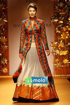 Bollywood Jacqueline Fernandez | Manish Malhotra's show at Wills Lifestyle India Fashion Week 2013 in New Delhi