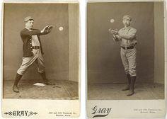 antique baseball studs