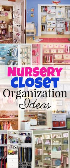Nursery closet organization tips and ideas - great hacks, easy DIY ideas, and storage tips for organizing the baby room closet.  Great ideas for big and small closets.