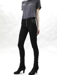 AUDREY HIGH WAIST SKINNY JEANS / CHARCOAL / Courtshop