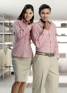 Staff Uniforms, Work Uniforms, Uniform Shirts, Men In Uniform, Mens Business Dress, Business Dresses, Receptionist Outfit, Housekeeping Uniform, Hotel Uniform