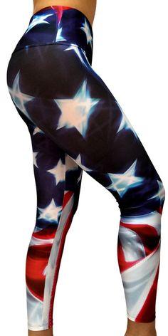 American Flag Print Legging