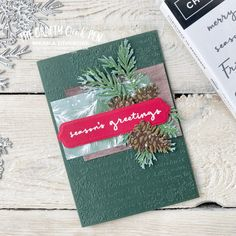 A Christmas to Remember with Christmas Pinecones and Painted Christmas Seasons Labels By Mikaela Titheridge, The Crafty oINK Pen. UK Independent Stampin' Up! Demonstrator. Buy your Stampin' Up! Products through my online store and use my Shopping Code at checkout for a Free Gift from me and a FREE Download of the All Star Tutorial Bundle. More info on my blog. Stampin Up Christmas, Christmas Greetings, Holiday Cards, Christmas Cards, Xmas, Cards For Friends, Free Gifts, Product Launch, Paper Crafts