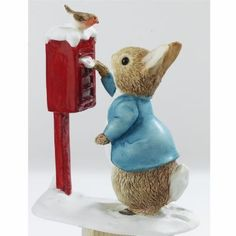 Peter Rabbit Posting A Letter. Beatrix Potter Figurine