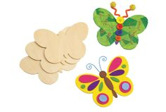 Wooden Butterfly Shapes - Set of 12