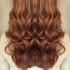 Red copper base with apricot highlights