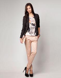 Bershka Spain - Bershka trousers with contrasting belt