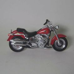 """Harley Davidson 2002 FLSTF Fat Boy Diecast Motorcycle 1:18 scale by Maisto International. $9.98. Brand New in original white mailing box with a certificate of authenticity. Harley Davidson die cast motorcyle has plastic parts and is 5"""" long. The motorcycle is very detailed with a working suspension, rolling tires and steerable front wheel. Harley Davidson die cast motorcyle has plastic parts and is 5"""" long. The motorcycle is very detailed with a working suspensi..."""