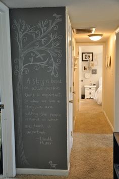 flat paint chalkboard wall - how-to-doing this weekend!
