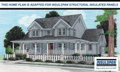 Stendal - Insulspan SIP Version 24154SUL - Farm House Home Plan at Design Basics