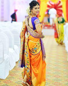 Improve How You Look With These Great Fashion Tips Kashta Saree, Saree Blouse, Marathi Bride, Marathi Wedding, Bridal Makeup Images, Indian Bridal Photos, Nauvari Saree, Bridal Lehenga Collection, Indian Wedding Photography Poses