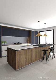 Minosa Design: Striking Kitchen Design with rich wood & Copper