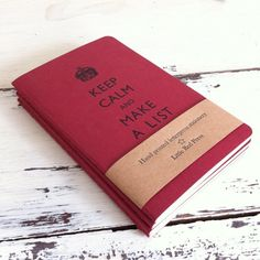 Keep Calm And Make A List notebook - Letterpress Moleskine Pocket Cahier.