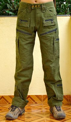 Mens Green Pants Jeans 32 36 38 by banja on Etsy, $88.00