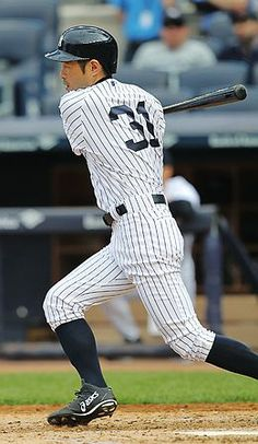 パイレーツ戦のダブルヘッダー第2試合の4回、安打を放つヤンキースのイチロー=18日、ニューヨーク ▼19May2014時事通信|ヤンキースのイチロー、ひとまず1本=米大リーグ http://www.jiji.com/jc/zc?k=201405/2014051900213 #Ichiro_Suzuki #New_York_Yankees