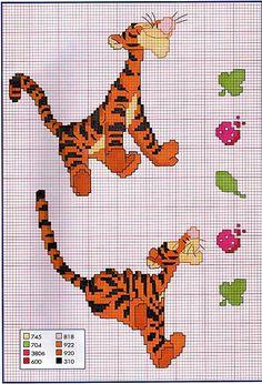 schema punto croce tigro 375