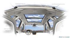Sketch of the Bentley Bentayga upper cabin environment (Sept 1, 2014)