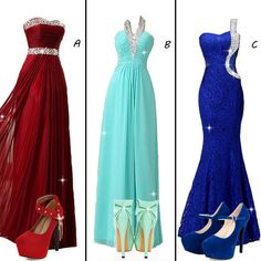 Which dress will you try? #PromDress #PartyDress #Shoes #Fashion #NewFashion