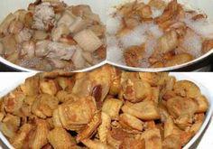 Plăcintă la tigaie cu aluat de cartofi, șuncă și cașcaval - Rețete Merișor Nutella, Potato Salad, Shrimp, Potatoes, Chicken, Ethnic Recipes, Potato, Cubs