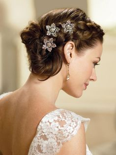 Side pigtails hairstyle with brooch and lace dress for wedding #hot #sexy #hairstyles #hairstyle #hair #long #short #medium #buns #bun #updo #braids #bang #greek #braided #blond #asian #wedding #style #modern #haircut #bridal #mullet #funky #curly #formal #sedu #bride #beach #celebrity #simple #black #trend #bob #girls