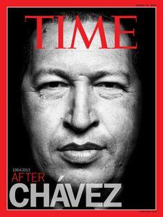 Portada de la revista Time el 18 de Marzo de 2013 tras la muerte de Hugo Chavez.