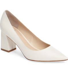 19912a37583 Main Image - Marc Fisher LTD  Zala  Pump (Women) White Block Heels