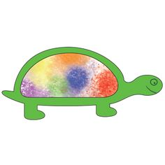 tie-dyed turtle