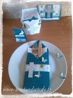 Kreatives Farbcafé: Festliche Tisch Deko Kommunion/Konfirmation