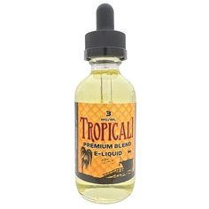 R&D Creations Premium E-Liquid Tropicali - A refreshing blend of pineapple, guava, strawberry and tangerine.70% VG