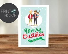 Personalised Christmas A5 Card with Custom by OscarRoxie on Etsy