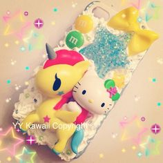 Kitty vs tokidoki unicorno kawaii decoden phone case for iPhone 4/4s, 5, Samsung Galaxy S2 S3 S4, iPod touch LAST TWO on Etsy, $30.00