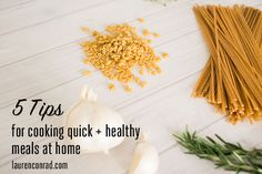 Busy Girl Tips for Cooking Fresh Food at Home