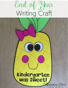 It's always fun to reflect on the school year at the end of the year! This writing craft is not only adorable, but purposeful! Your students will love assessing their writing conventions with this end of year writing craft!