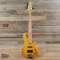 LAKLAND Deluxe 55-94 5-String Bass / Amber Quilted Maple Top, Birdseye Maple Board / USED @Reverb..