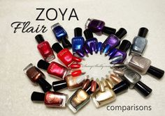 Zoya Nail Polish Flair collection vs. other Zoya metallics - comparisons..dupes??   |  Sassy Shelly